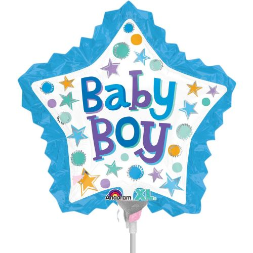 Baby Boy Star with Ruffle Mini Shape Flat